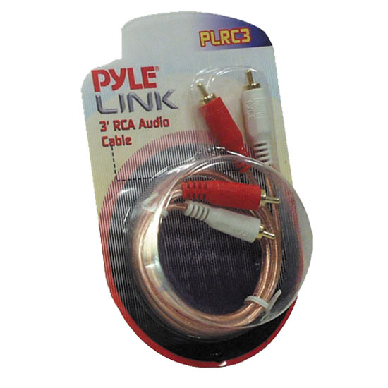 Pyle - PLRC3 , Car Audio , Audio / Video Cables And Accessories , Speaker Cables , 3ft Stereo RCA Cable
