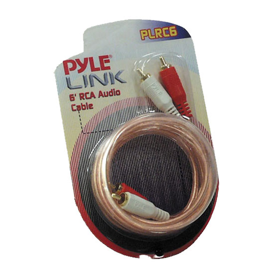 Pyle - PLRC6 , Sound and Recording , Cables - Wiring - Adapters , 6ft Stereo RCA Cable