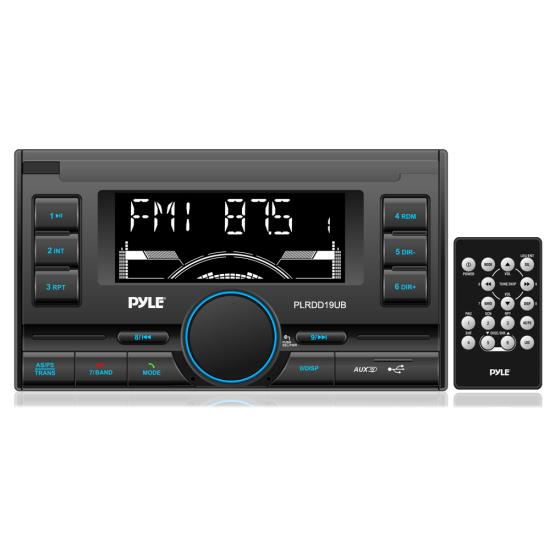 Pyle - PLRDD19UB , Car Audio , Car Stereos , Bluetooth Digital Receiver with USB/SD Card Readers, AM/FM Radio, AUX Input, Remote Control