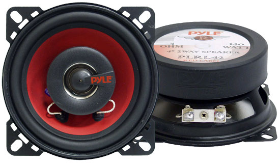 Pyle - PLRL42 , Car Audio , Car Speakers , 4'' Car Speakers , 4'' 140 Watt Two-Way Speakers