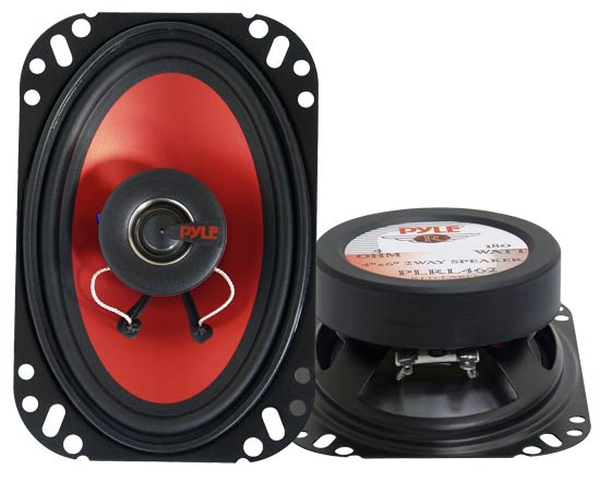 Pyle - PLRL462 , On the Road , Vehicle Speakers , 4''x 6'' 180 Watt  Two-Way Speakers