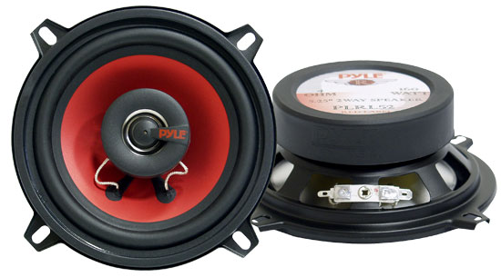 Pyle - PLRL52 , Car Audio , Car Speakers , 5.25'' Car Speakers , 5.25'' 160 Watt Two-Way Speakers