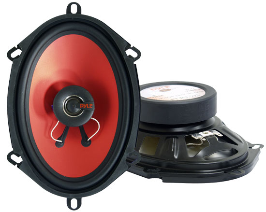 Pyle - PLRL572 , On the Road , Vehicle Speakers , 5''x 7'' & 6'' X 8'' 200 Watt  Two-Way Speakers