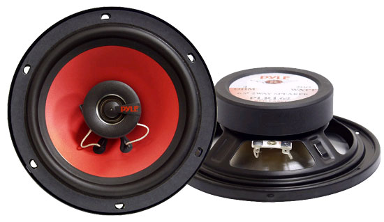 Pyle - PLRL62 , On the Road , Vehicle Speakers , 6.5'' 200 Watt Two-Way Speakers