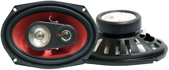 Pyle - PLRL693 , On the Road , Vehicle Speakers , 6'' X 9'' 400 Watt Three-Way Speakers