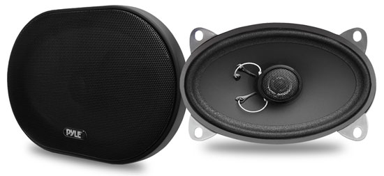 Pyle - PLSL4602 , On the Road , Vehicle Speakers , 4''x 6'' 160 Watt Slim Mount Two-Way Coaxial Speakers