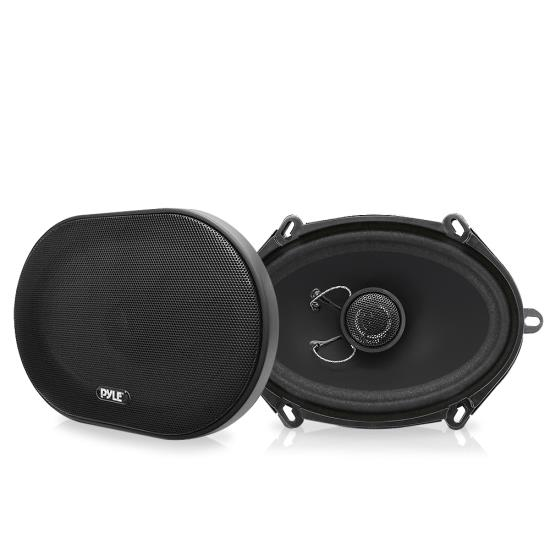 Pyle - PLSL5702 , On the Road , Vehicle Speakers , 5'' x 7'' / 6'' x 8'' 180 Watt Slim Mount Two-Way Coaxial Speakers