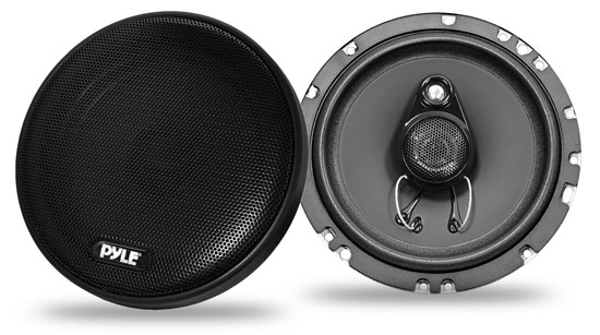 Pyle - PLSL6503 , On the Road , Vehicle Speakers , 6.5'' 200 Watt Slim Mount Three-Way Coaxial Speakers