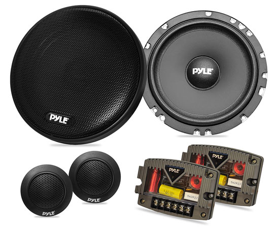 Pyle - PLSL650K , On the Road , Vehicle Speakers , Plus Series 6.5'' 300 Watt Slim Mount Two-Way Component Speaker System