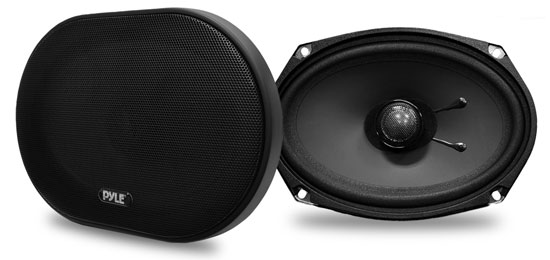 Pyle - PLSL6902 , On the Road , Vehicle Speakers , 6''x 9'' 240 Watt Slim Mount Two-Way Coaxial Speakers