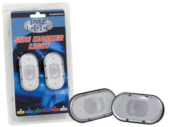 Pyle - PLSLM5WT , Disc , Pyle Lite Series White Side Marker Light