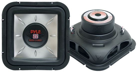 Pyle - PLSQ12D , On the Road , Vehicle Subwoofers , 12'' 1400 Watt Square DVC Subwoofer