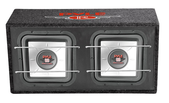 Pyle - PLSQBS102 , On the Road , Subwoofer Enclosures , Dual 10'' 1000 Watts Subwoofer Enclosure
