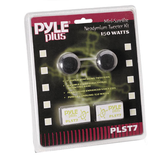 Pyle - PLST7 , Sound and Recording , Tweeters - Horn Drivers , 1'' 150 Watt Mini Dome Tweeter