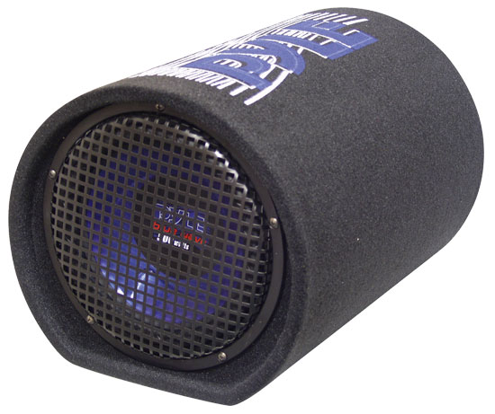 Pyle - PLTB8 , On the Road , Subwoofer Enclosures , 8'' 400 Watt Carpeted Subwoofer Tube Enclosure System