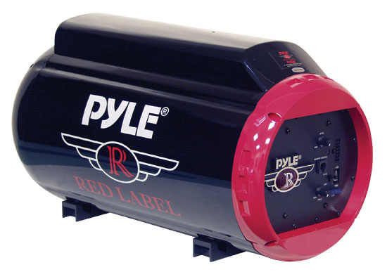 Pyle - PLTB8A , On the Road , Subwoofer Enclosures , 8'' 400 Watt Amplified Injection Molded Subwoofer Tube