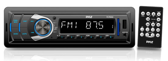 Pyle - PLTR24U , Car Audio , Car Stereos , In-Dash Digital Receiver Headunit with USB/SD Card Readers, MP3/AUX-Input, AM/FM Radio, DC 12-24V Dual Voltage System Compatible with Car, Bus, Truck, RV, etc.