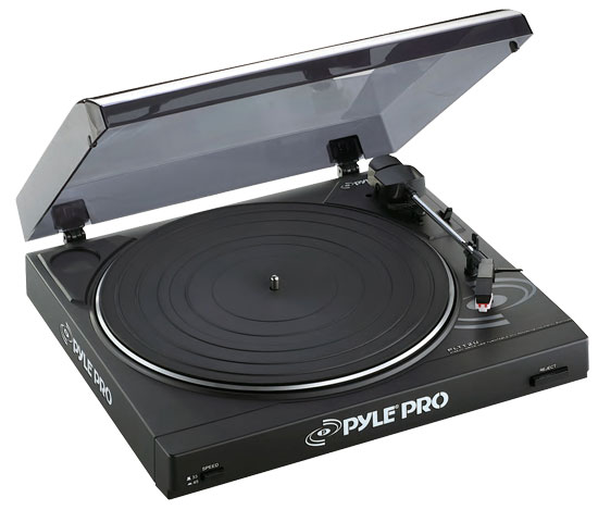 Pyle - PLTTB2U , DJ Equipment , Turntables , Professional Belt Drive Turntable with USB Interface