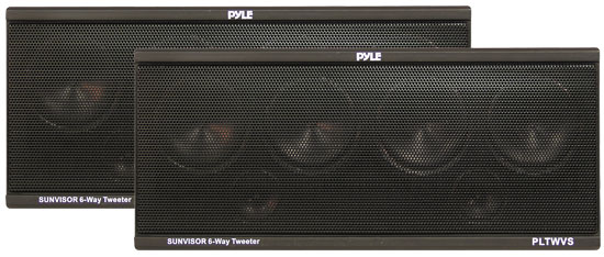 Pyle - PLTWVS , On the Road , Tweeters , 6-Way Sunvisor Mount 200 Watt Tweeter System