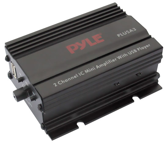 Pyle - PLUSA3 , Home and Office , Amplifiers - Receivers , 2 Channel 300 Watt Mini Amplifier w/USB Audio Player