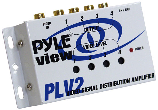 Pyle - PLV2 , On the Road , Vehicle Amplifiers , 1 Into 4 Mobile Video Signal Distribution Amplifier