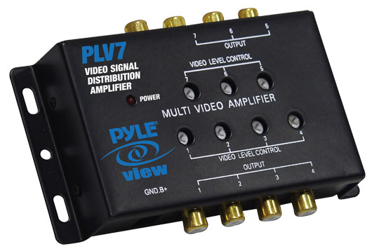 Pyle - PLV7 , On the Road , Wires - Cables - Installation , 1 Into 7 Mobile Video Signal Distribution Amplifier