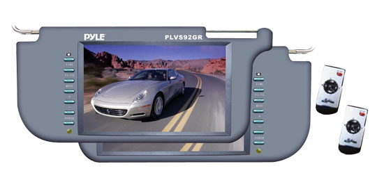 Pyle - PLVS92GR , Mobile Video / Navigations , Sun Visor Monitors , Pair of 9.2'' TFT/LCD Left & Right Sun Visor Monitor (Grey)