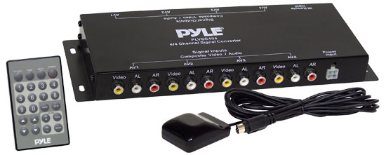 Pyle - PLVSC404 , Mobile Video / Navigations , FM Modulators & Transmitters , AV Signal Converter w/Remote Control