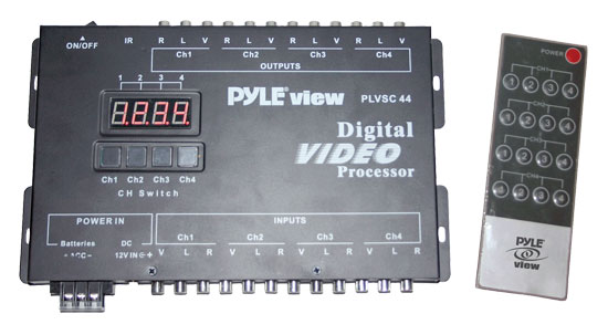 Pyle - PLVSC44 , On the Road , Wires - Cables - Installation , 4 Source Audio & Video To 4 Monitor Digital Selector
