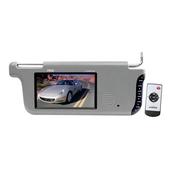 Pyle - PLVSR71GR , On the Road , Video Monitors , 7'' TFT/LCD Right Sun Visor Monitors (Grey)