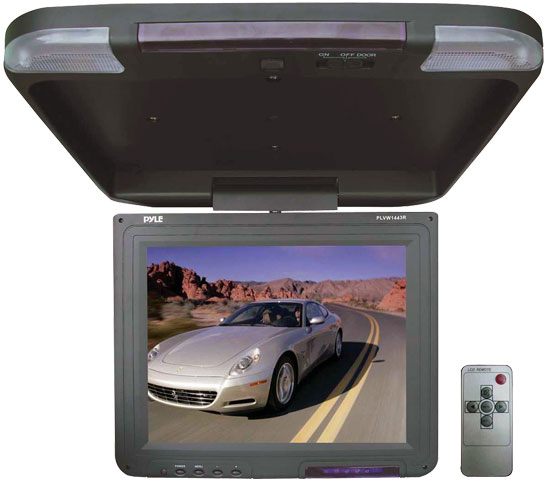 "Pyle - PLVW1443R , Mobile Video / Navigations , Roof Mount Monitors , 13.4"" Flip-Down Roof Mount TFT LCD Monitor & IR Transmitter"