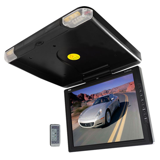 Pyle - PLVWR1440 , On the Road , Overhead Monitors - Roof Mount , 14'' High Resolution TFT Roof Mount Monitor & IR Transmitter