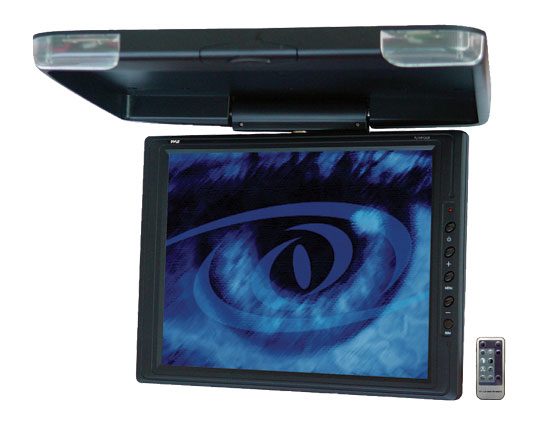 Pyle - PLVWR1542 , On the Road , Overhead Monitors - Roof Mount , 15'' High Resolution TFT Roof Mount Monitor & IR Transmitter