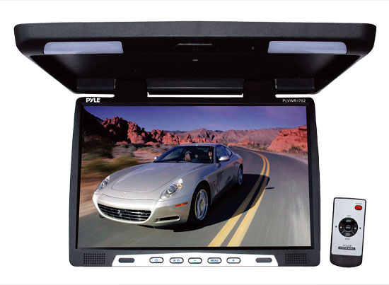 Pyle - PLVWR1752 , On the Road , Overhead Monitors - Roof Mount , 18.5'' Wide Screen TFT LCD Roof Mount Video Monitor w/IR Transmitter