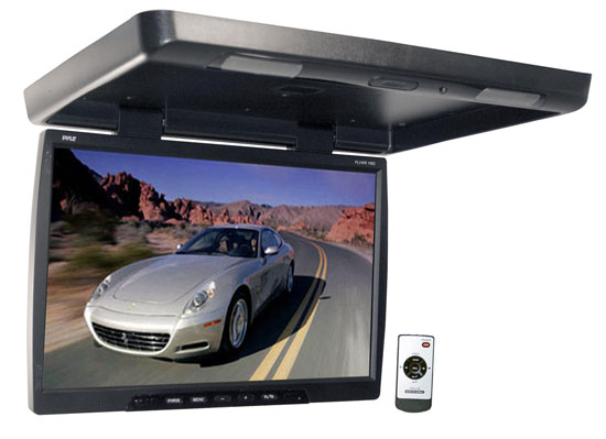 Pyle - PLVWR1982 , On the Road , Overhead Monitors - Roof Mount , 19''  Widescreen TFT Roof Mount Monitor & IR Transmitter