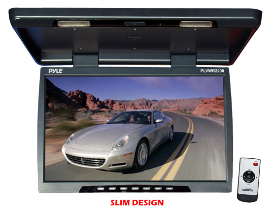 Pyle - PLVWR2200 , Mobile Video / Navigations , Roof Mount Monitors , 22'' Flip Down Roof Mount TFT LCD Monitor & IR Transmitter