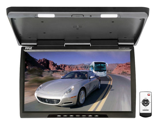 Pyle - PLVWR2400 , On the Road , Overhead Monitors - Roof Mount , 25'' Wide Screen TFT-LCD Roof Mount Video Monitor w/IR Transmitter