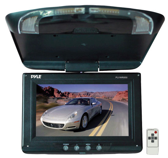 Pyle - PLVWR850 , On the Road , Overhead Monitors - Roof Mount , 8.5'' High Resolution TFT Flip Down Roof Mount Monitor & IR Transmitter