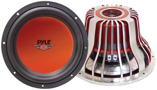 Pyle - PLW12DREN , On the Road , Vehicle Subwoofers , 12'' 2000 Watt Aluminum Die-Cast Subwoofer