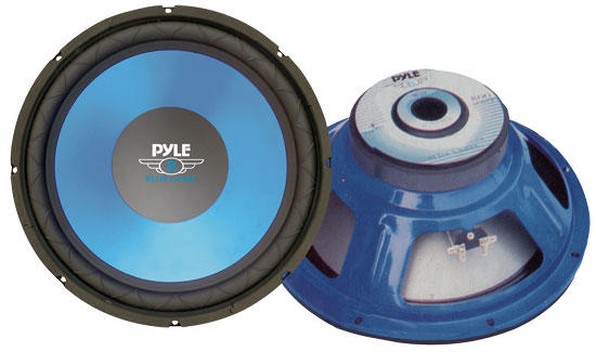 Pyle - PLW15BL , On the Road , Vehicle Subwoofers , 15'' Blue Cone High Performance Woofer