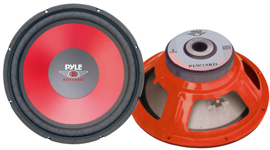 "Pyle - PLW15RD , On the Road , Vehicle Subwoofers , 15"" Red Cone High Performance Woofer"