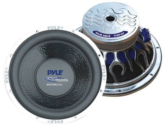 "Pyle - PLWB105 , On the Road , Vehicle Subwoofers , 10"" 600 Watt 4 Ohm Subwoofer"