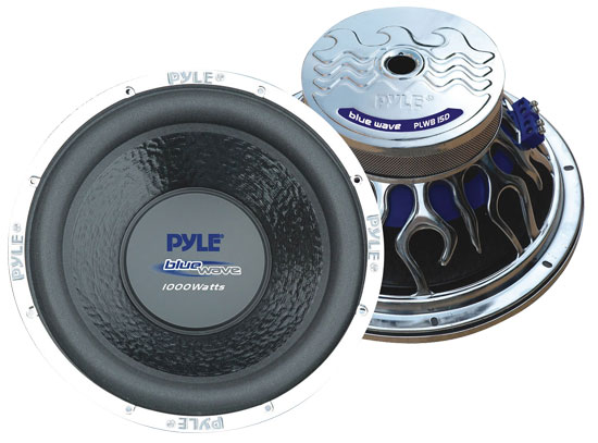"Pyle - PLWB15D , On the Road , Vehicle Subwoofers , 15"" 1000 Watt DVC Subwoofer"