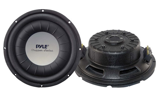 Pyle - PLWCH10D , On the Road , Vehicle Subwoofers , 10'' 1000 Watt Ultra Slim DVC Subwoofer
