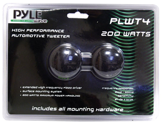 Pyle - PLWT4 , On the Road , Tweeters , 1.5'' 200 Watt Surface Mount Piezo Tweeter