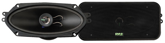 Pyle - PLX4102 , On the Road , Vehicle Speakers , 4'' x 10'' 300 Watt Two-Way Speakers