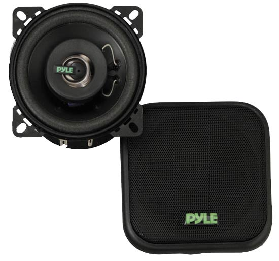 Pyle - PLX42 , On the Road , Vehicle Speakers , 4'' 120 Watt Two-Way Speakers