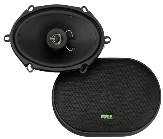 Pyle - PLX572 , On the Road , Vehicle Speakers , 5'' x 7''/6'' x 8'' 180 Watt Two-Way Speakers