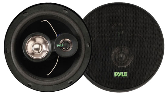 Pyle - PLX63 , On the Road , Vehicle Speakers , 6.5'' 180 Watt Three-Way Speakers