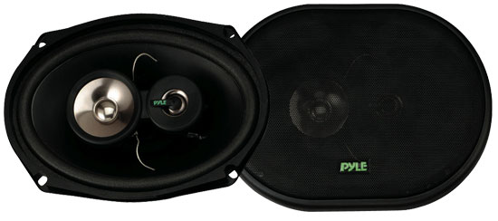 Pyle - PLX693 , On the Road , Vehicle Speakers , 6'' x 9'' 300 Watt Three-Way Speakers